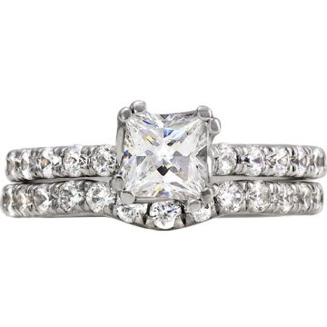 14k White Gold Rego 1/3ct Diamond Semi Mount Engagement Ring