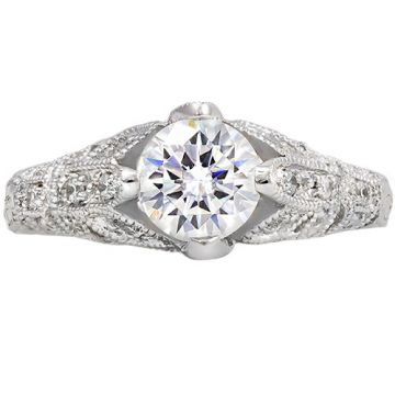 14k White Gold Rego 1/4ct Diamond Semi Mount Engagement Ring