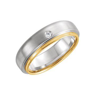 Platinum Hand-Engraved Wedding Band
