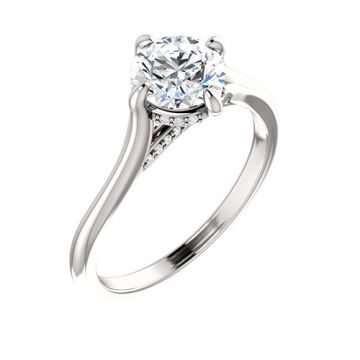 14k White Gold 0.06ct Diamond Engagement Ring