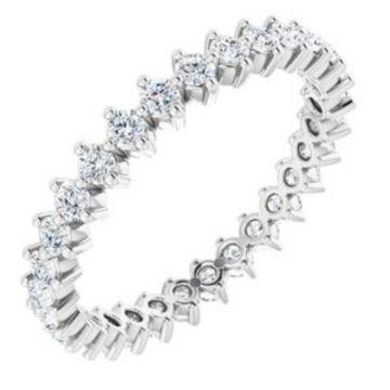 14K White 7/8 CTW Diamond Eternity Band
