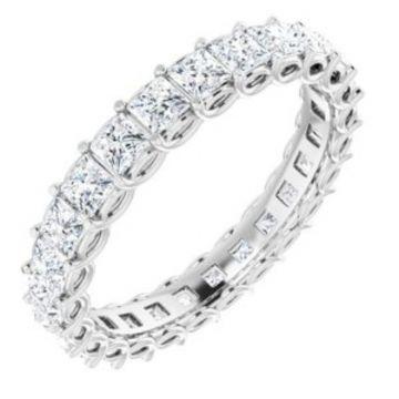 14K White 2 1/3 CTW Diamond Eternity Band