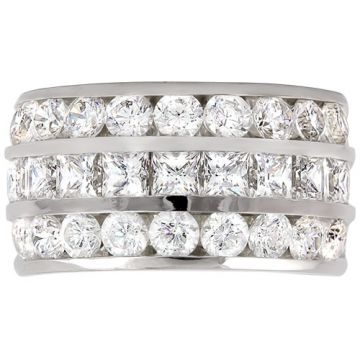 14k White Gold Rego 1/4ct Diamond Anniversary Band