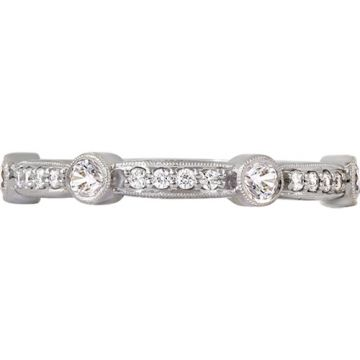 14k Rose Gold Rego 1/3ct Diamond Stackable Ring