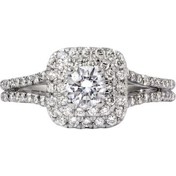 14k White Gold Rego 1/2ct Diamond Semi Mount Engagement Ring