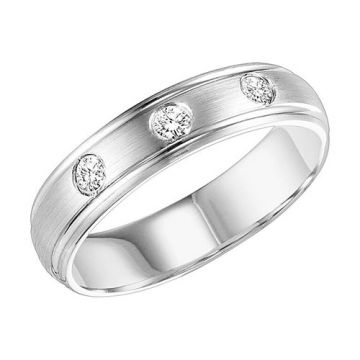 Goldman 18k White Gold Men's Wedding Band