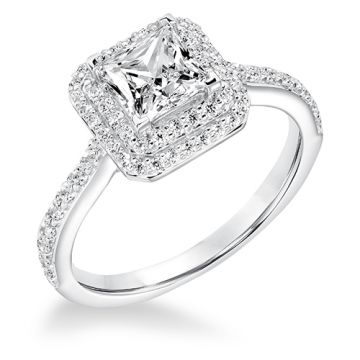 Goldman 14k White Gold 0.53ct Diamond Semi Mount Engagement Ring