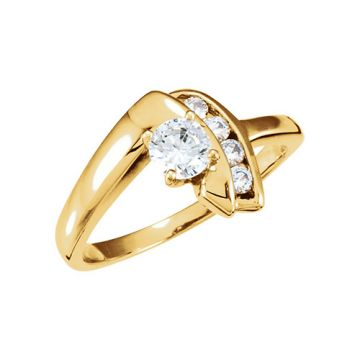 14k Yellow Gold Semi-Mount Engagement Ring