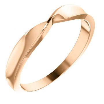 14k Rose Gold Twisted Stackable Ring
