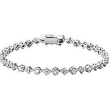 "14K White 2 1/2 CTW Diamond 7.5"" Bracelet"