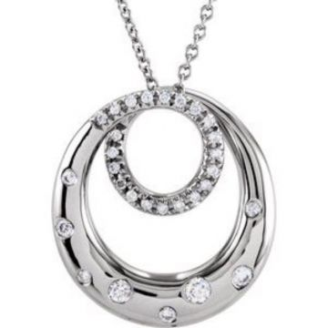 "14K White 1/3 CTW Diamond 18"" Necklace"