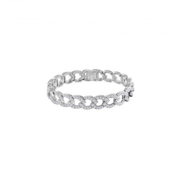 14k White Gold 4 1/4ct Diamond Bracelet