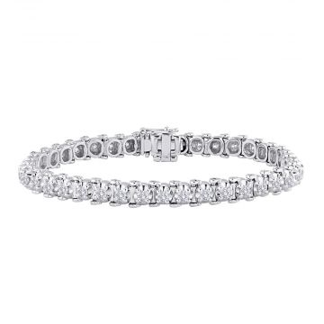 14k White Gold 2ct Classic Four-Prong Tennis Bracelet