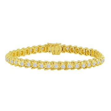 14k Yellow Gold 2ct Classic Four-Prong Tennis Bracelet