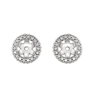 14k White Gold Diamond Earrings Jacket