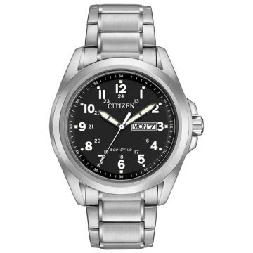 Citizen Eco-Drive Garrison Stainless Steel Silver-Tone 43mm Men's Watch