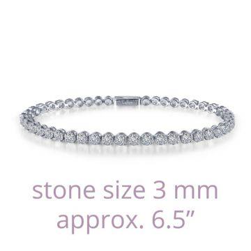 Lafonn Classic Silver Tone Diamond Tenni Bracelet