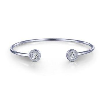 Lafonn Stackables Silver Tone Cuff Bracelet