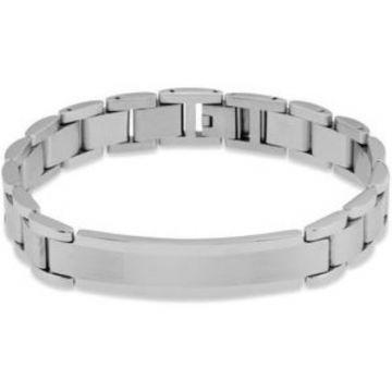 "Stainless Steel 11 mm Identification 8 1/2"" Bracelet"