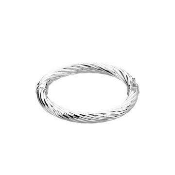 """Sterling Silver Hinged Bangle 7"""" Bracelet"""