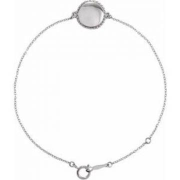 "Sterling Silver Beaded 6.5-7.5"" Bracelet"