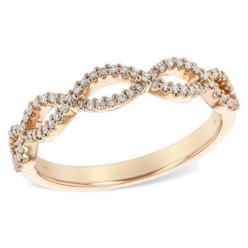 Allison Kaufman 14k Rose Gold Twist Wedding Band