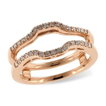 Allison Kaufman 14k Rose Gold Enhancer & Guard Wedding Band