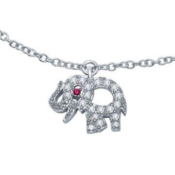 Lafonn Classic Silver Tone Necklace