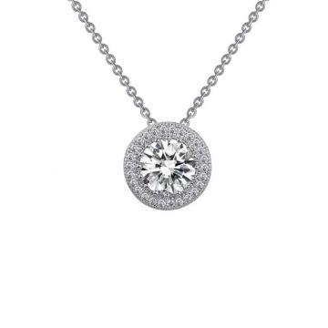 Lafonn Classic Silver Tone Diamond Necklace