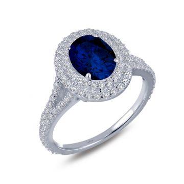 Lafonn Double-Halo Engagement Ring