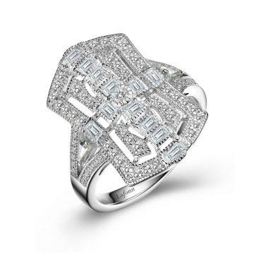 Lafonn Vintage Inspired Engagement Ring