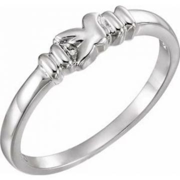 Sterling Silver Holy Spirit Chastity Ring Size 7