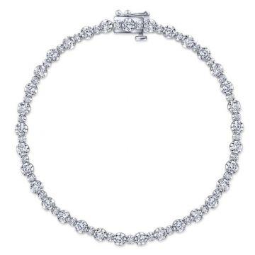 Gabriel & Co. 14k White Gold Lusso Diamond Tennis Bracelet