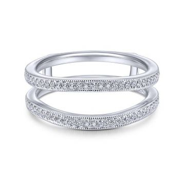 Gabriel & Co. 14k White Gold Victorian Enhancer Wedding Band