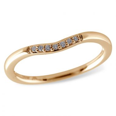 Allison Kaufman 14k Rose Gold Curved Wedding Band
