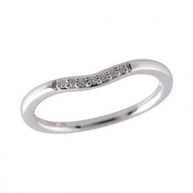 Allison Kaufman 14k White Gold Curved Wedding Band