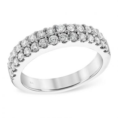 Allison Kaufman 14k White Gold Diamond Wedding Band
