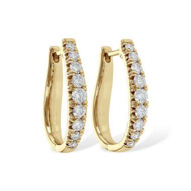 Allison Kaufman 14k Yellow Gold Diamond Hoop Earrings