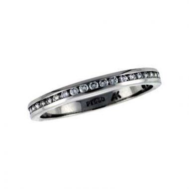 Allison Kaufman Platinum  Eternity Wedding Band