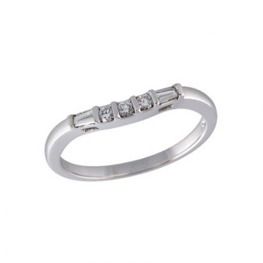 Allison Kaufman Platinum  Curved Wedding Band