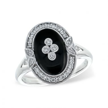 Allison Kaufman 14k White Gold Gemstone & Diamond Ring