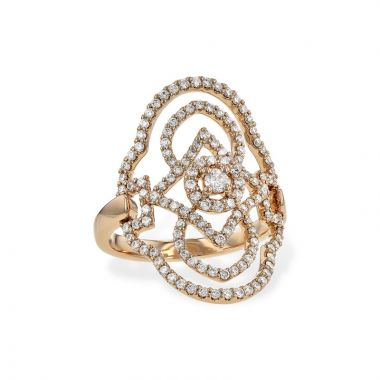 Allison Kaufman 14k Rose Gold Diamond Ring