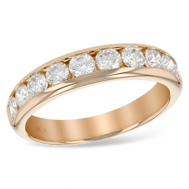 Allison Kaufman 14k Rose Gold Anniversary Wedding Band