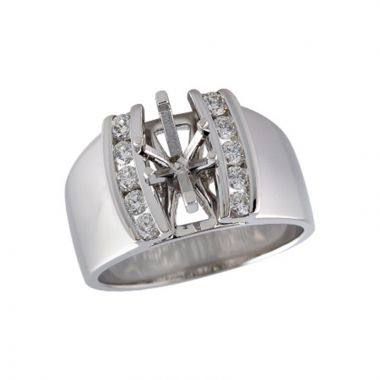 Allison Kaufman 14k White Gold Diamond Semi-Mount Engagement Ring