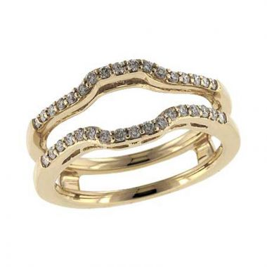 Allison Kaufman 14k Yellow Gold Enhancer & Guard Wedding Band
