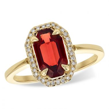 Allison Kaufman 14k Yellow Gold Gemstone & Diamond Ring