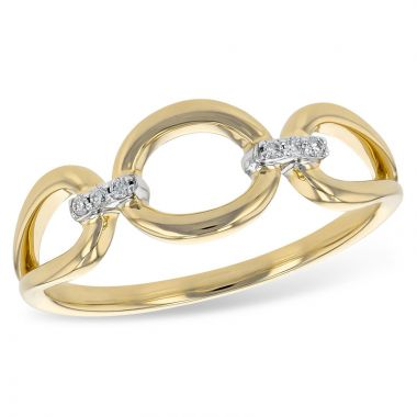 Allison Kaufman 14k Yellow Gold Diamond Ring
