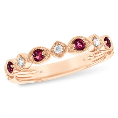 Allison Kaufman 14k Rose Gold Diamond & Gemstone Ring