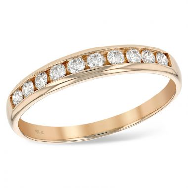 Allison Kaufman 14k Rose Gold Diamond Anniversary Wedding Band