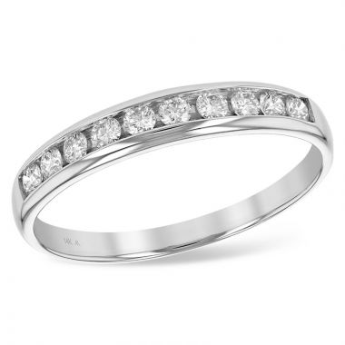 Allison Kaufman 14k White Gold Diamond Anniversary Wedding Band